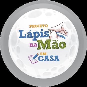 Logotipo do Projeto Lápis na Mão em Casa